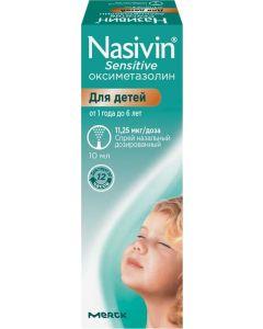 Buy Nazivin Sensitive Spray nasal., Dosage 11.25mkg / dose, 10ml, # 1 | Online Pharmacy | https://buy-pharm.com