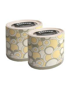 Buy 75364/2 Set Paper napkins for the face Kleenex, round box, yellow circles, 3-cl, 64 pcs x 2 pcs | Online Pharmacy | https://buy-pharm.com