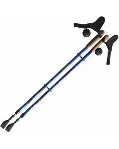 Buy Е 0673 Walking stick for 'Scandinavian' walking (110-140cm) (blue / red) | Online Pharmacy | https://buy-pharm.com