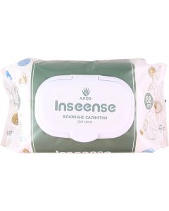 Buy Wet wipes for children Inseense, with Aloe Vera, 88 pcs | Online Pharmacy | https://buy-pharm.com