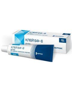 Buy BF-6 glue solution for external use alcohol., Tube, 15 g | Online Pharmacy | https://buy-pharm.com