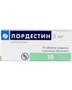 Buy Lordestin tab. p / o film. 5mg # 10 | Online Pharmacy | https://buy-pharm.com
