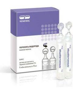 Buy Hydrogen peroxide, solution 3% 10 ml No. 5, tube-cap Renewal | Online Pharmacy | https://buy-pharm.com