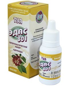 Buy Tuya Edas-801 homeopathic oil. bottle-drop 15ml | Online Pharmacy | https://buy-pharm.com