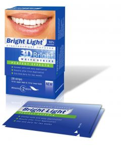 Buy Whitening strips for teeth Bright Light '3D Bright Perfect Effects', for sensitive teeth | Online Pharmacy | https://buy-pharm.com