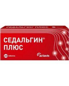 Buy Sedalgin Plus Tablets, # 20  | Online Pharmacy | https://buy-pharm.com