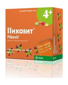 Buy Pikovit Tablets p / o, # 60  | Online Pharmacy | https://buy-pharm.com