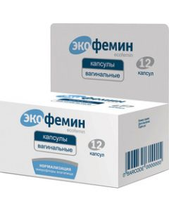 Buy Ecophemin Vaginal capsules, No. 12 | Online Pharmacy | https://buy-pharm.com