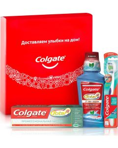 Buy Set Colgate Total Toothpaste Professional Cleaning Gel, 75 ml + Toothbrush 360 Superpurity + Total Pro Oral Rinse Protection Strong Mint, 250 ml   Online Pharmacy   https://buy-pharm.com