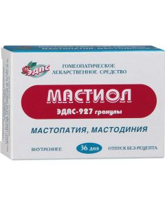 Buy Mastiol 'EDAS-927' homeopathic granules, 0.17 g containers-dose, 36 doses | Online Pharmacy | https://buy-pharm.com