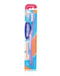 Buy Wisdom Clean Between Sensitive Toothbrush, micro fine conical fibers ... Soft bristles. | Online Pharmacy | https://buy-pharm.com